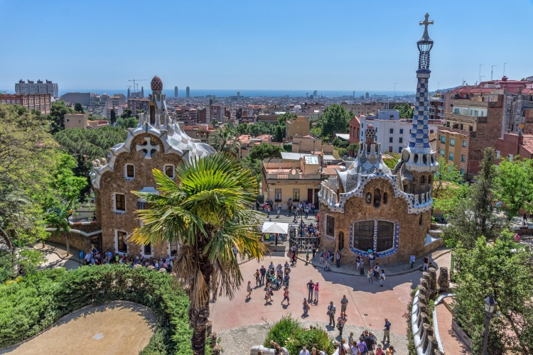 Barcelone_-_Parc_Güell_-_Entrée